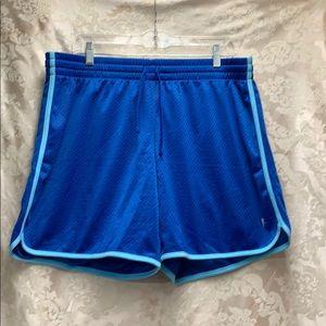 Danskin Now Blue Workout Shorts XL 16-18 🤸♀️